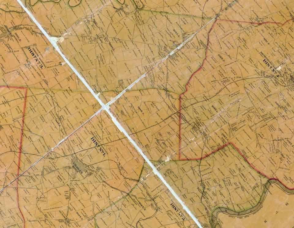 Map of Jefferson County WV