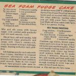Sea Foam Fudge Cake
