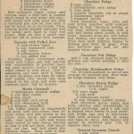 Candy Recipes from a Newspaper