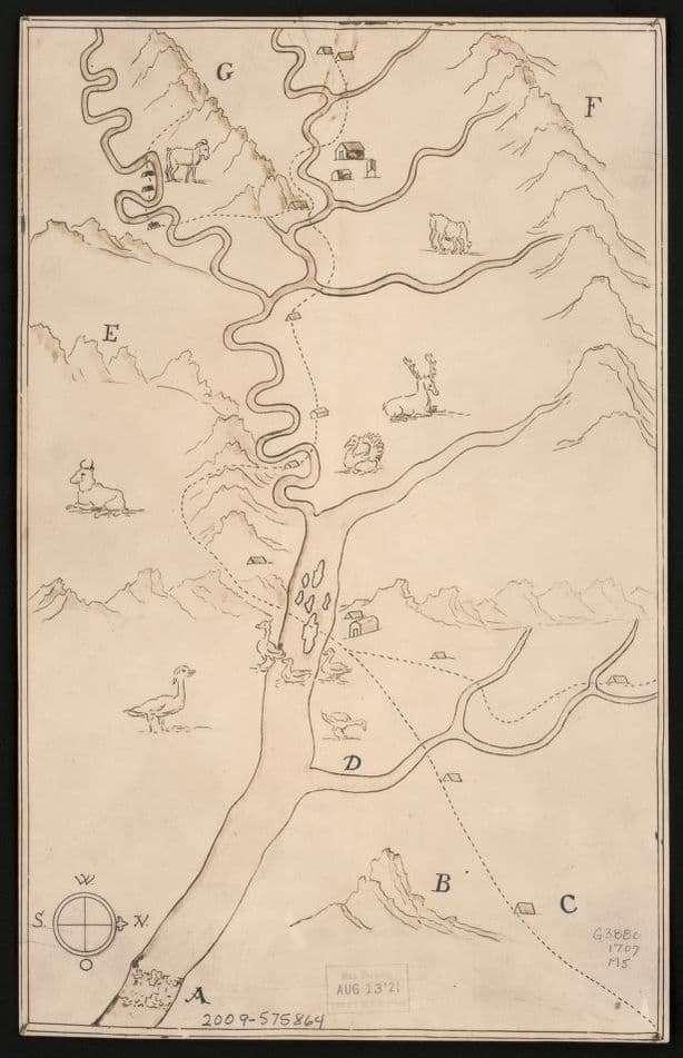 Earliest Map of Harpers Ferry, Bakerton