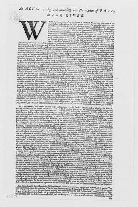 Potomack Company Legislation